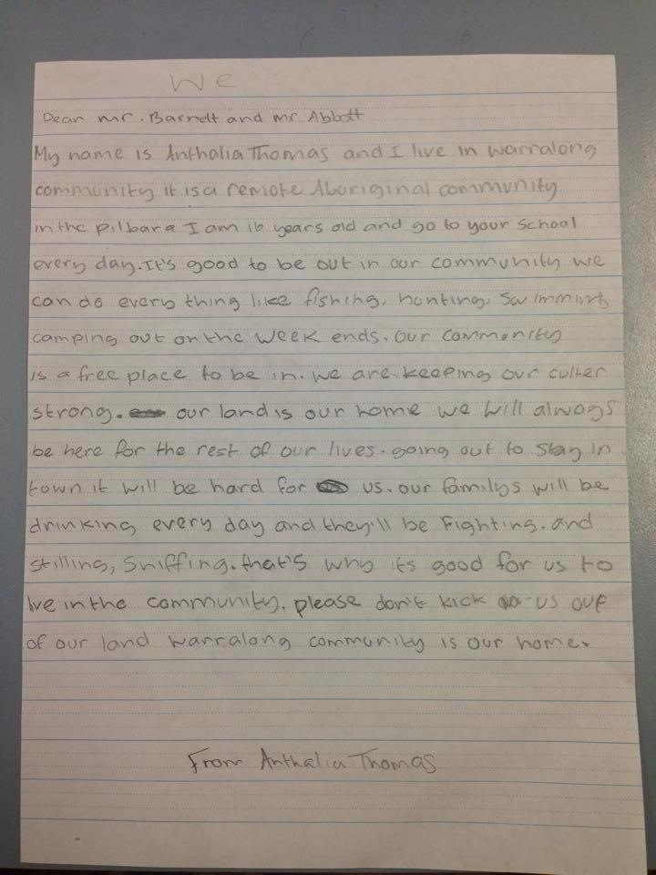 Anthalia Thoma letter